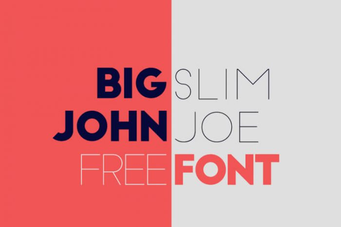 retro vintage fonts bigjohn - UI Freebies