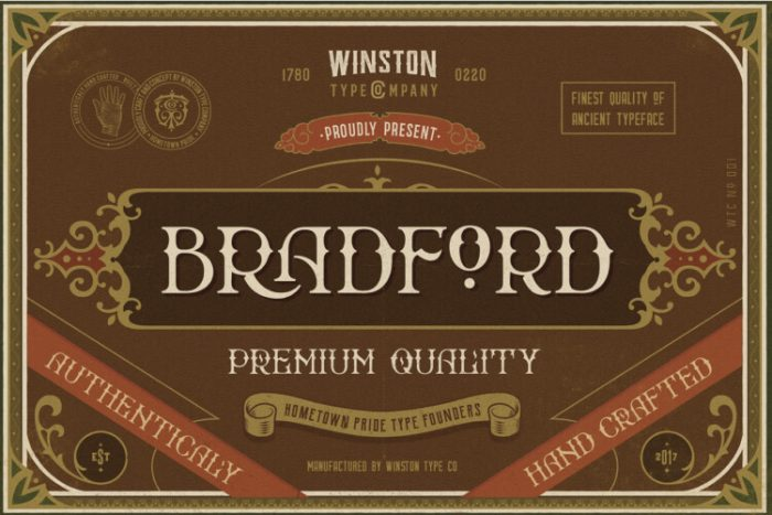 retro vintage fonts brandford - UI Freebies