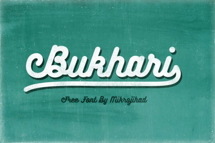 retro vintage fonts bukhari script - UI Freebies