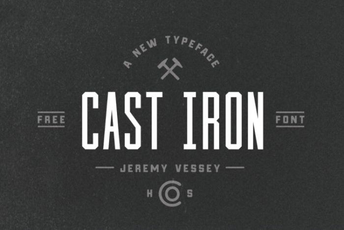 retro vintage fonts cast iron - UI Freebies