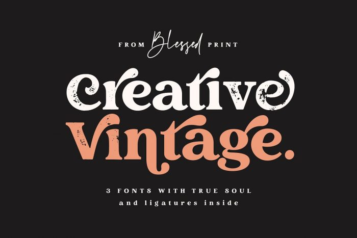 retro vintage fonts creative vintage - UI Freebies