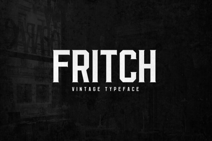 retro vintage fonts fritch - UI Freebies