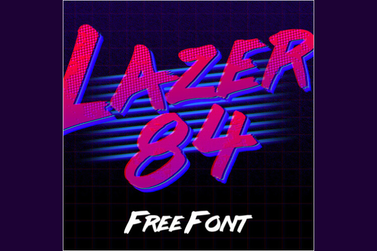 retro vintage fonts lazer 84 - UI Freebies