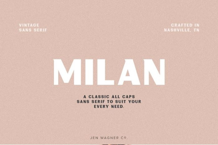 retro vintage fonts milan - UI Freebies