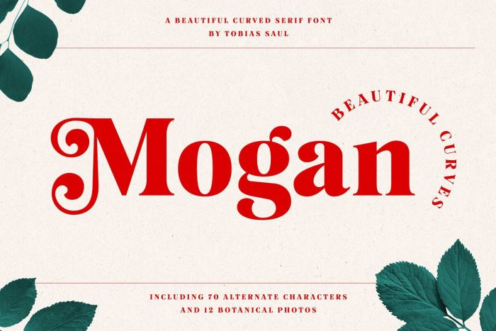 retro vintage fonts mogan - UI Freebies