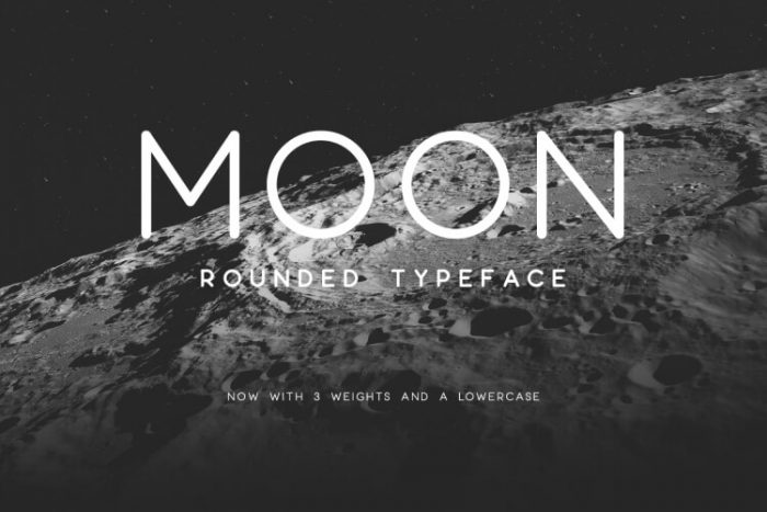 retro vintage fonts moon - UI Freebies