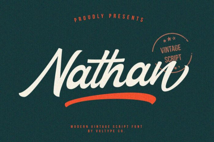 retro vintage fonts nathan - UI Freebies