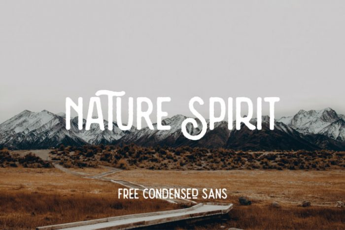 retro vintage fonts nature spirit - UI Freebies