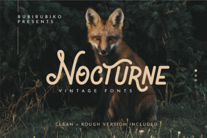 retro vintage fonts nocture - UI Freebies