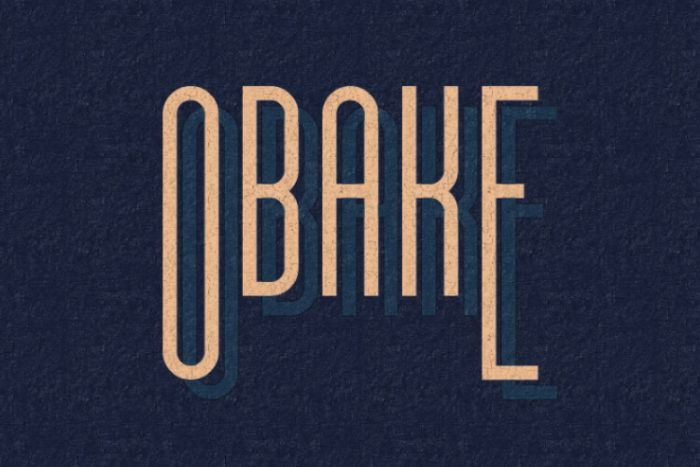 retro vintage fonts obake - UI Freebies