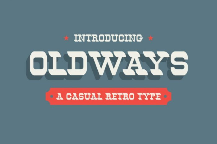 retro vintage fonts oldways - UI Freebies