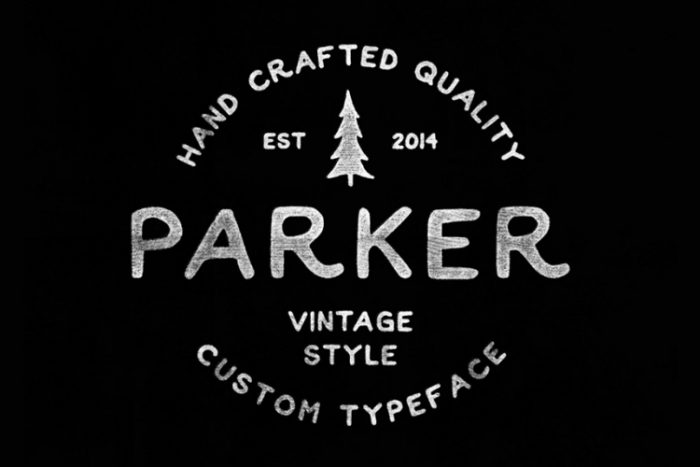 retro vintage fonts parker - UI Freebies