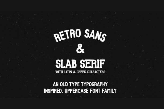 retro vintage fonts retro - UI Freebies