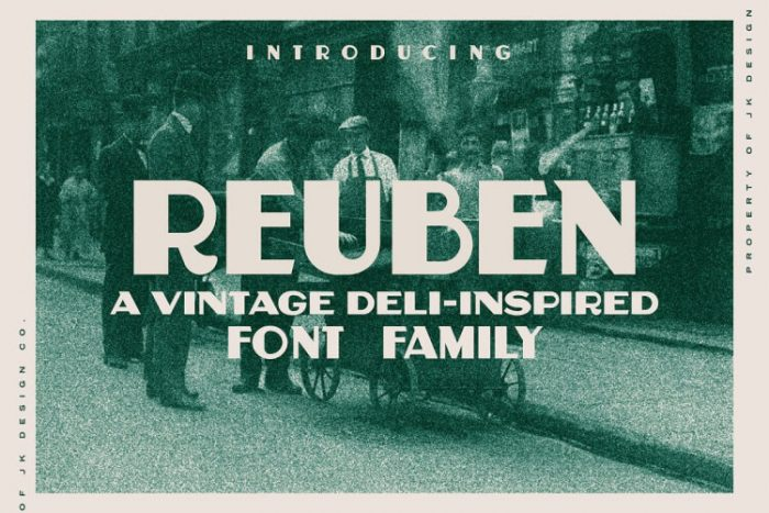retro vintage fonts reuben - UI Freebies