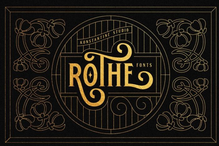 retro vintage fonts rothe - UI Freebies