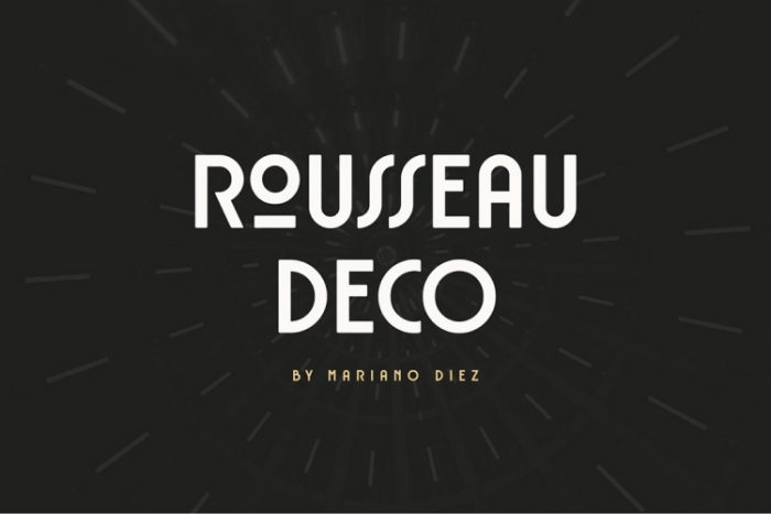 retro vintage fonts rousseau deco - UI Freebies