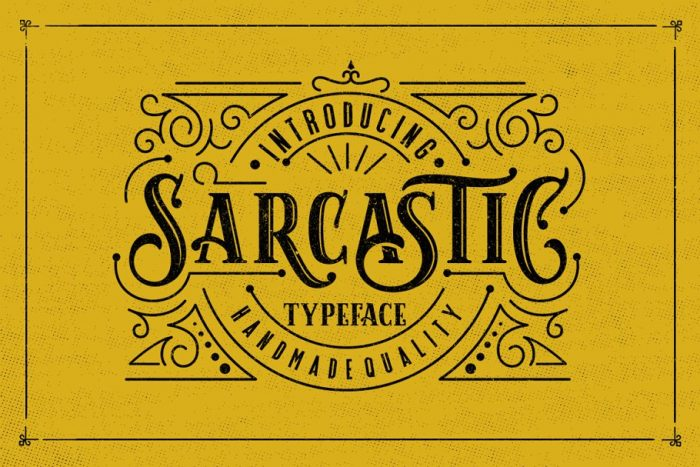 retro vintage fonts sarcatic - UI Freebies