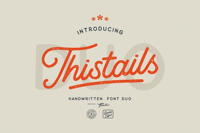 retro vintage fonts thistails - UI Freebies