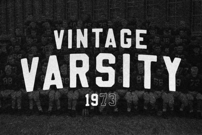 retro vintage fonts varsity - UI Freebies