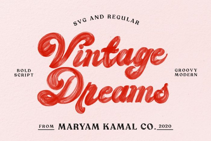 retro vintage fonts vintage dreams - UI Freebies