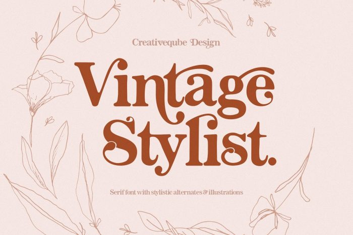 retro vintage fonts vintage stylist - UI Freebies