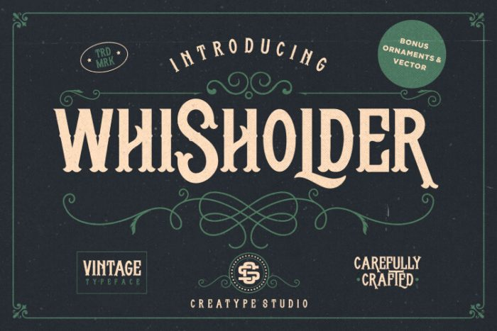 retro vintage fonts wisholder - UI Freebies