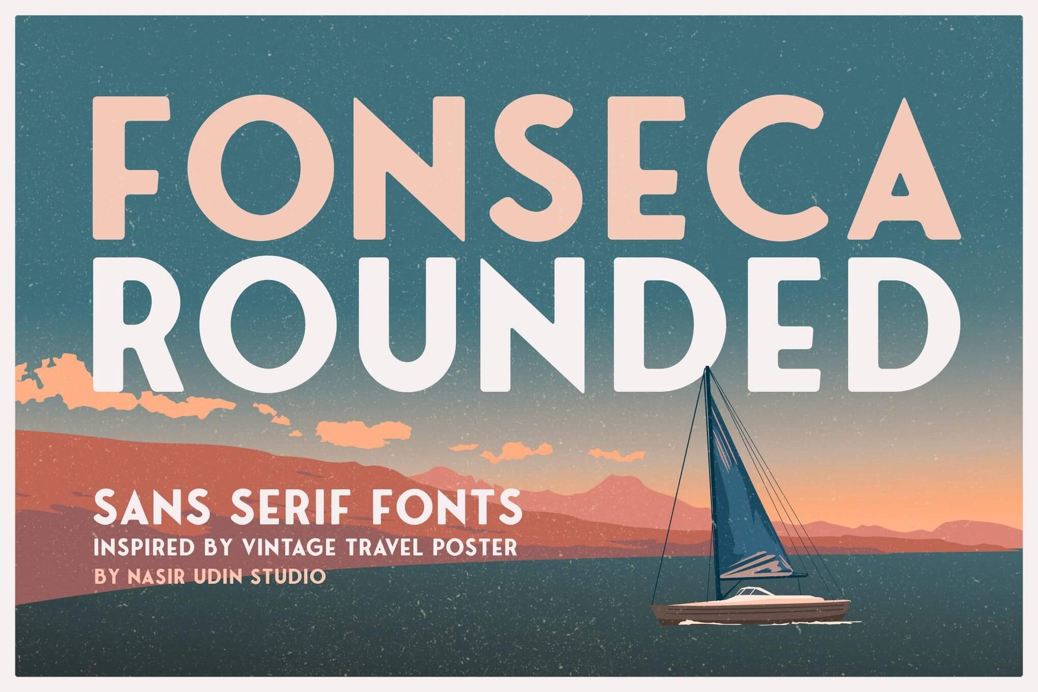 sans serif fonts fonseca rounded - UI Freebies