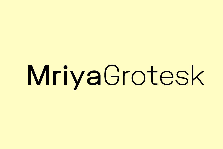 sans serif fonts mriya grotesk - UI Freebies