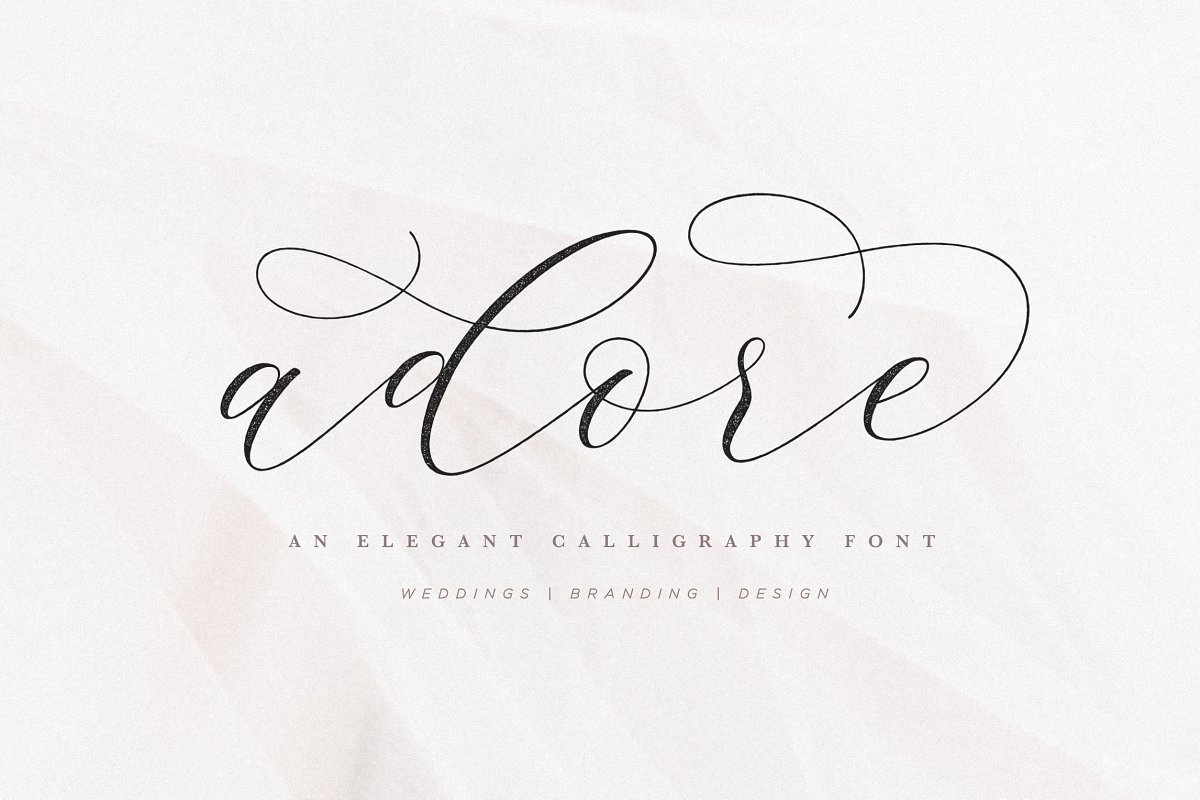 script fonts adore - UI Freebies