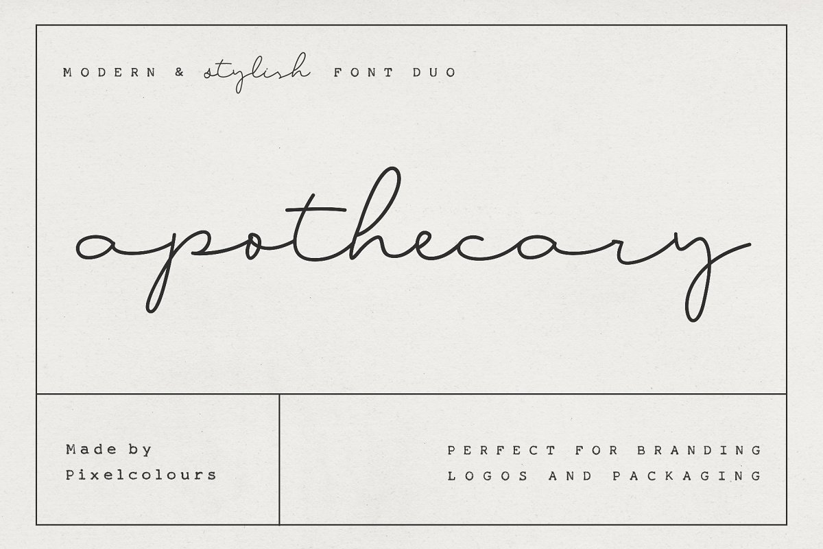 script fonts apothecary - UI Freebies