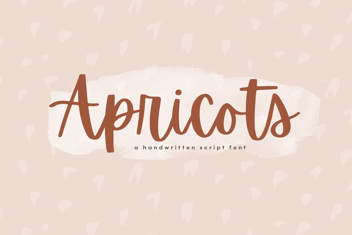 script fonts apricots - UI Freebies