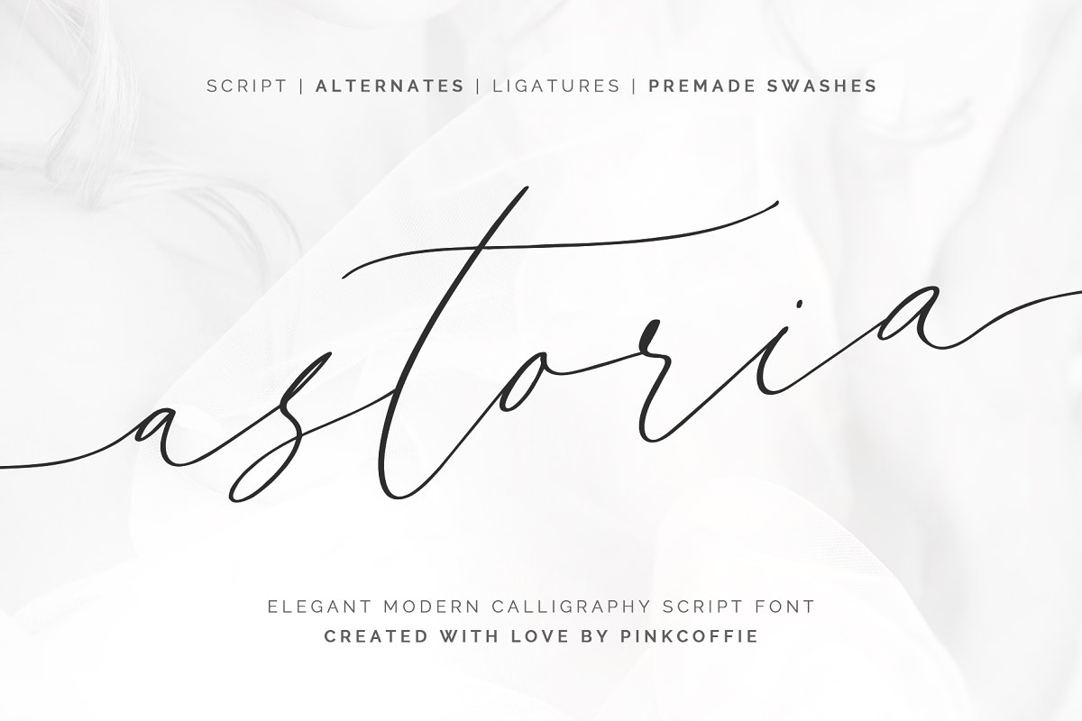 script fonts astoria - UI Freebies