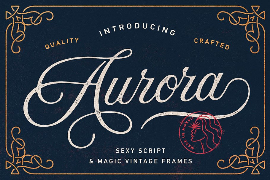script fonts aurora - UI Freebies