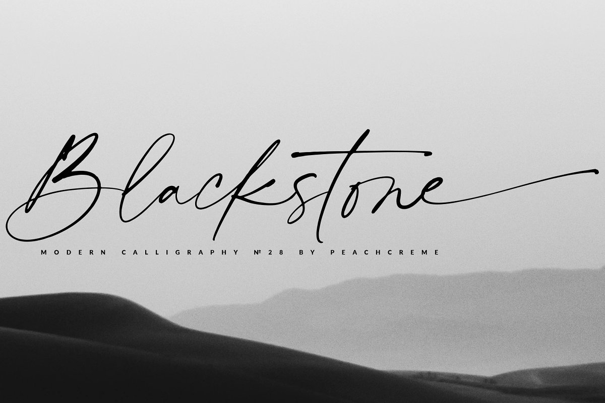script fonts black stone - UI Freebies