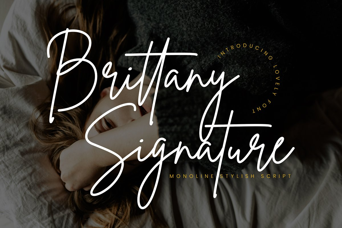 script fonts brittany signature - UI Freebies