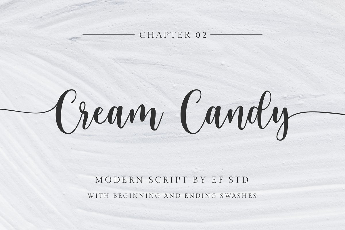 script fonts cream candy - UI Freebies