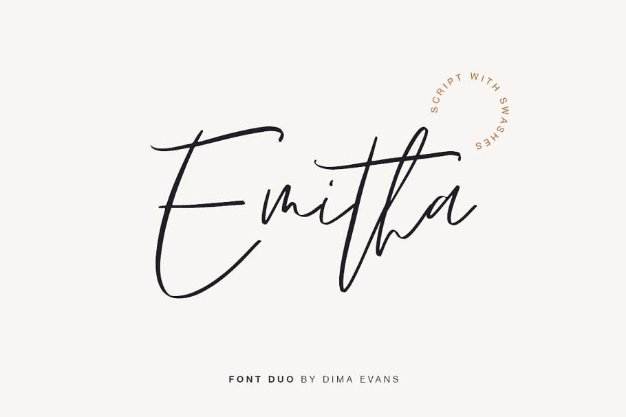 script fonts emitha - UI Freebies