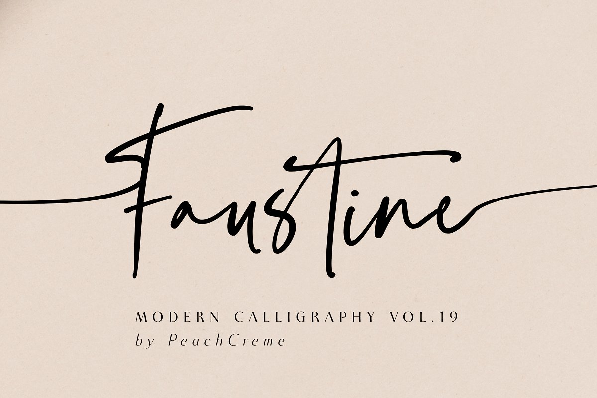 script fonts faustine - UI Freebies