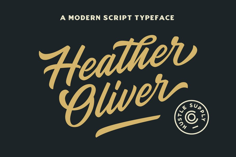 script fonts heather oliver - UI Freebies