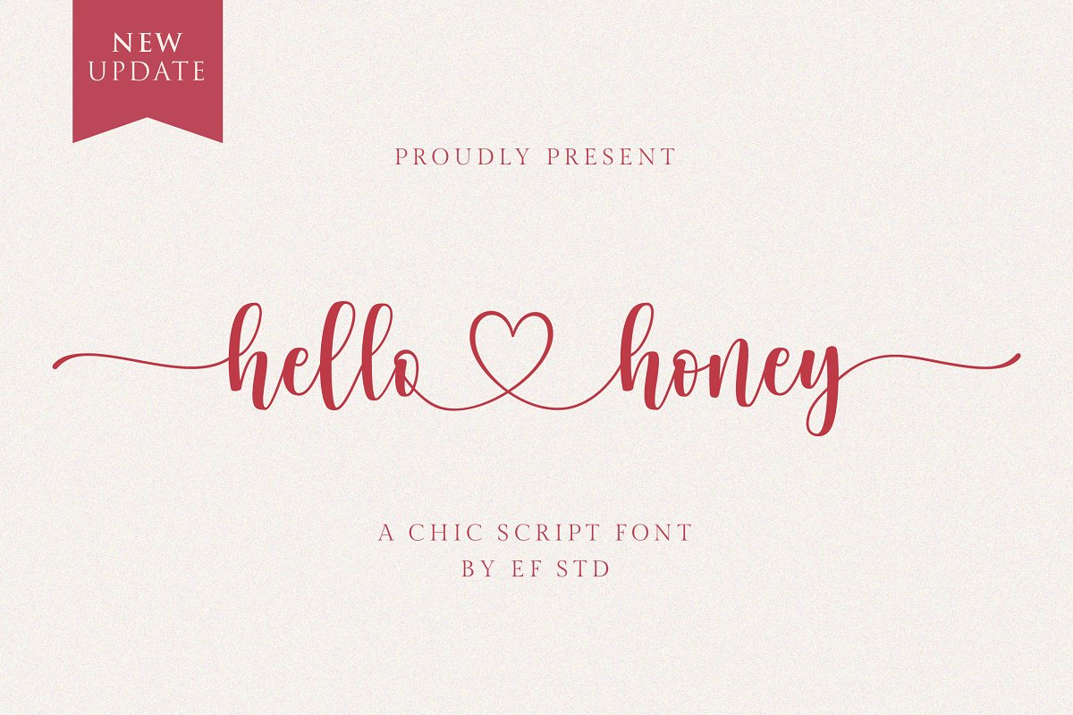 script fonts hello honey - UI Freebies