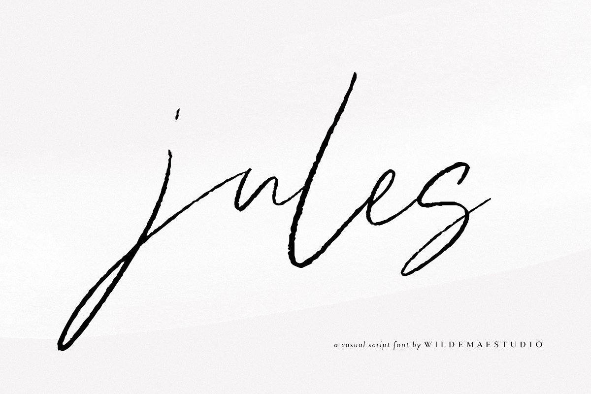 script fonts jules - UI Freebies