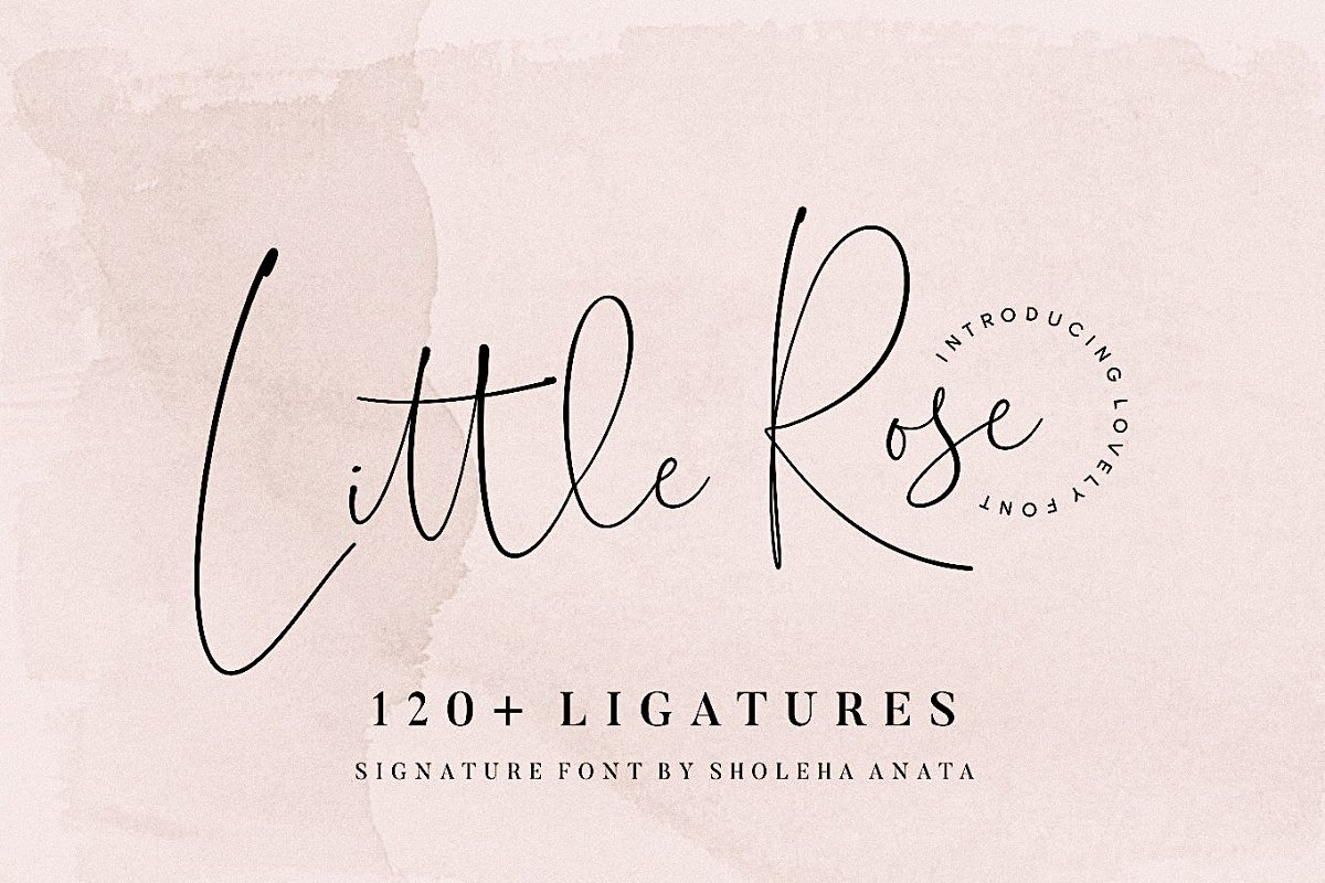 script fonts little rose - UI Freebies