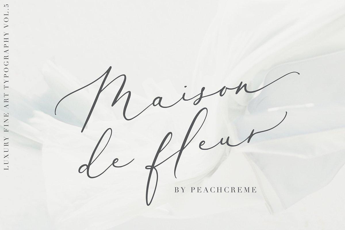 script fonts maison de fleur - UI Freebies
