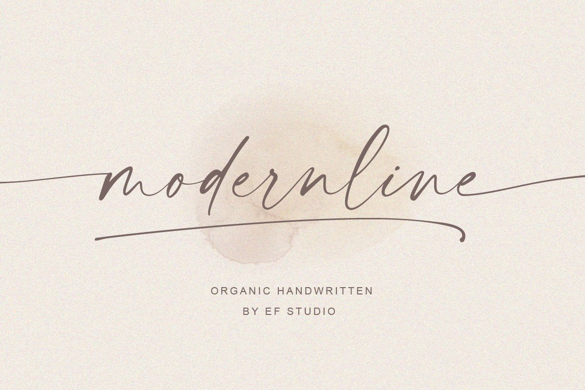 script fonts mordenline - UI Freebies