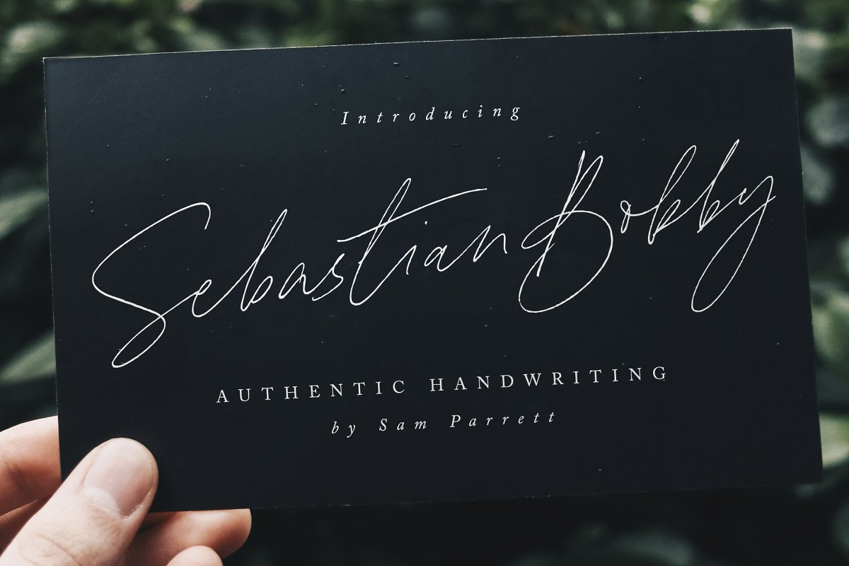 script fonts sebastian bobby - UI Freebies