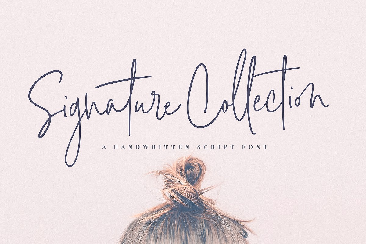 script fonts signature collection - UI Freebies