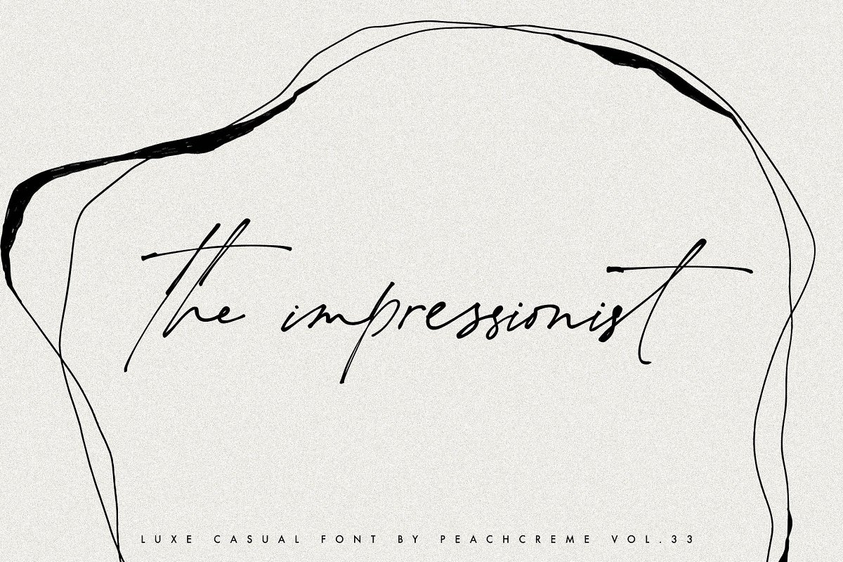 script fonts the impreesionist - UI Freebies