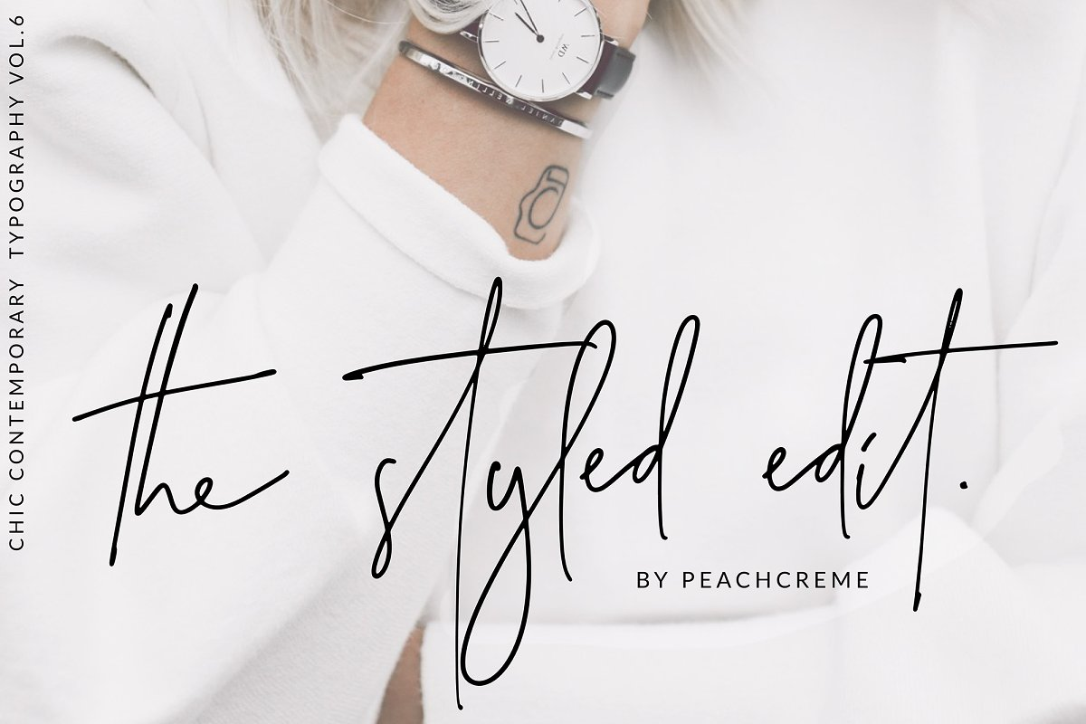 script fonts the styled edit - UI Freebies