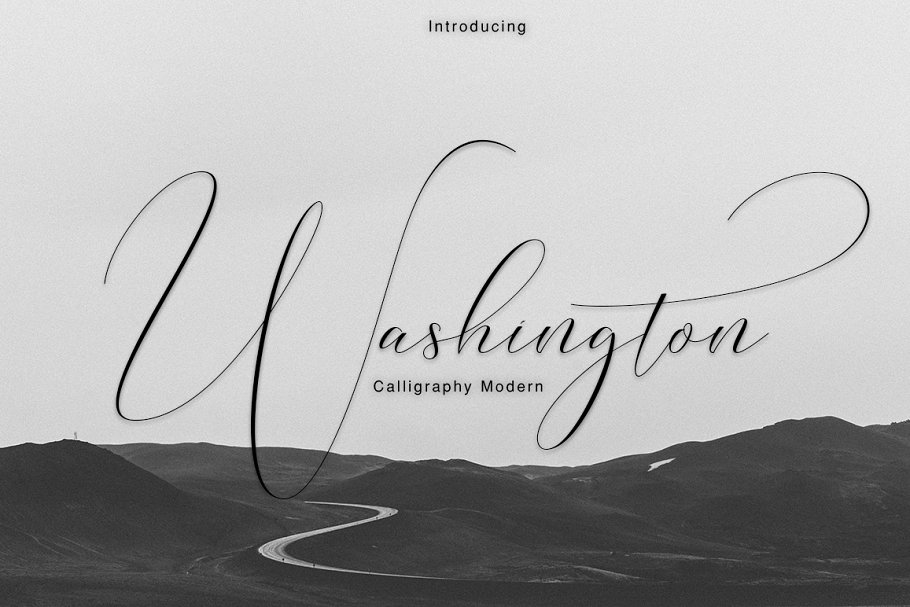script fonts washington - UI Freebies