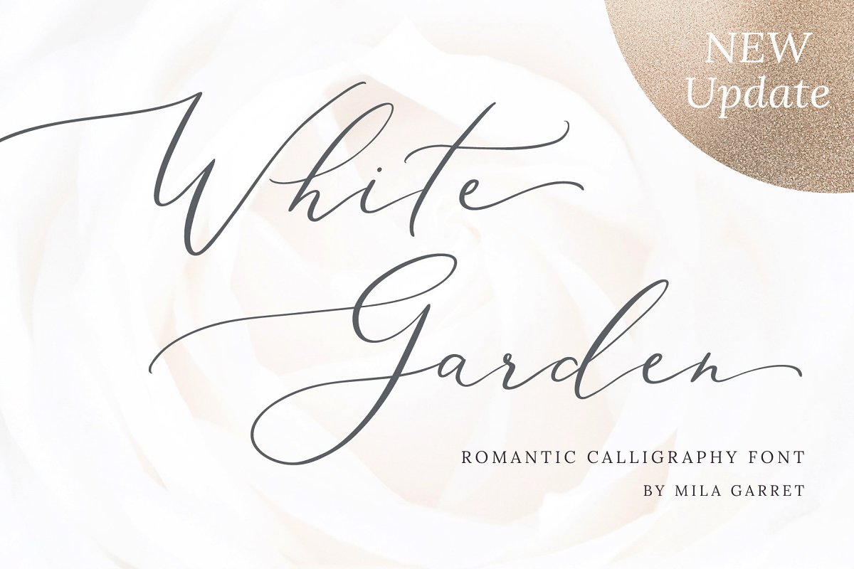 script fonts white garden - UI Freebies